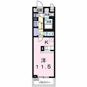 京王八王子駅 徒歩31分5階Fの間取り画像