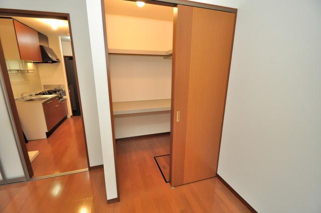 フルールタツミウエスト もちろん収納スペースも確保。いたれりつくせりのお部屋です。