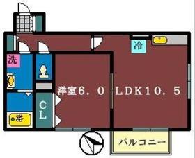 イレーネN2階Fの間取り画像