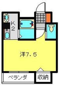 アヴニールグレイス6階Fの間取り画像