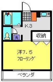 上星川駅 徒歩5分2階Fの間取り画像