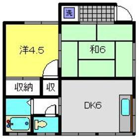Nハイツ2階Fの間取り画像