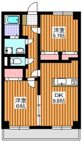 サザンパレス2階Fの間取り画像