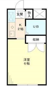 日吉駅 徒歩4分1階Fの間取り画像