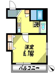 Casa Placiente3階Fの間取り画像