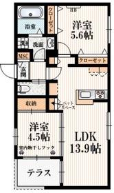 (仮称)矢野口メゾンA1階Fの間取り画像