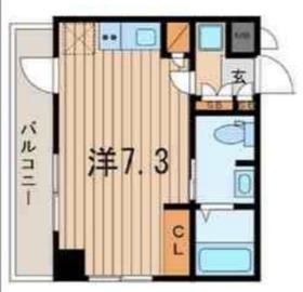 横浜翠葉BuildingI5階Fの間取り画像