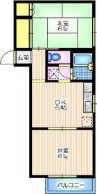 メゾンAND1階Fの間取り画像