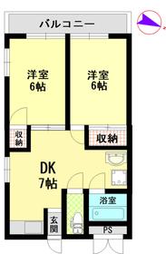 ファーストマンション2階Fの間取り画像
