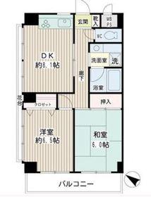 フローラル永田2階Fの間取り画像