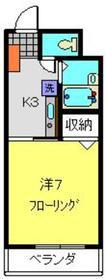 武蔵中原駅 徒歩5分1階Fの間取り画像