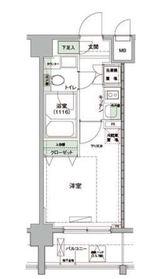 ハーモニーレジデンス羽田WEST2階Fの間取り画像