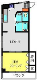AKハイム反町2階Fの間取り画像