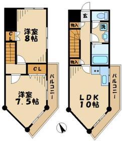 タナホーム山王下4階Fの間取り画像