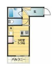 ベイルーム吉野町1階Fの間取り画像