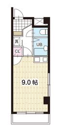 ミラクルイン横浜2階Fの間取り画像