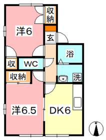 レジデンシャル粒浦2階Fの間取り画像