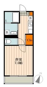 アール桜木1階Fの間取り画像
