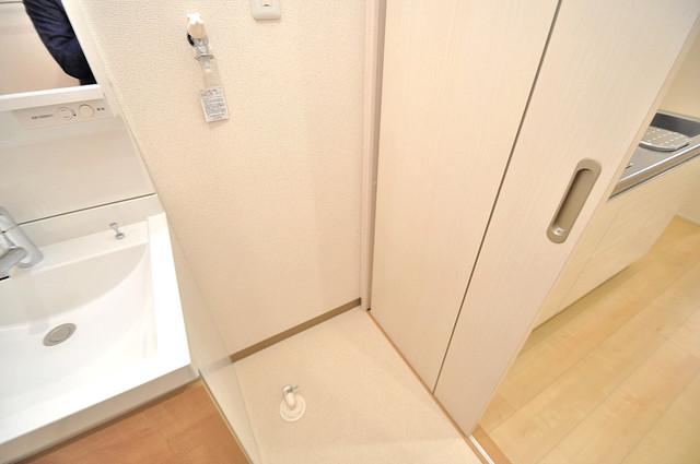 フジパレス高井田西Ⅱ番館 洗濯機置場が室内にあると本当に助かりますよね。