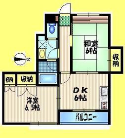 モアクレスト2階Fの間取り画像