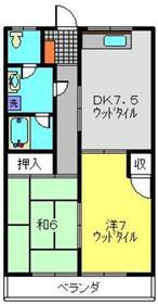ハイムサンライズ2階Fの間取り画像