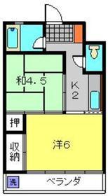 伊澤ビル3階Fの間取り画像