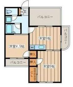 二俣川YSマンション4階Fの間取り画像