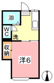 レジデンス総社Ⅱ1階Fの間取り画像