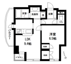 シーアイマンション池袋西9階Fの間取り画像