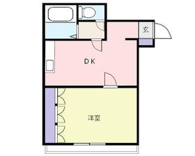 鶴瀬オークビル3階Fの間取り画像