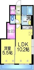 カルミア1階Fの間取り画像