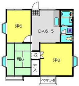 マロンハイムF2階Fの間取り画像