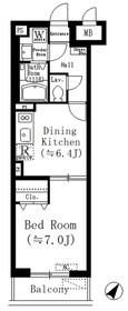 ルーチェ六義園1階Fの間取り画像