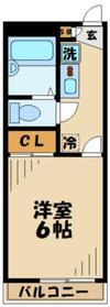 レオパレス輝跡1階Fの間取り画像