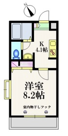 メゾン三笠2階Fの間取り画像