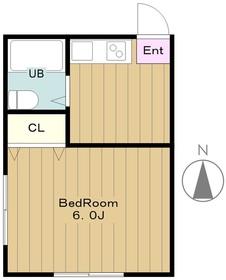サンホワイト2階Fの間取り画像