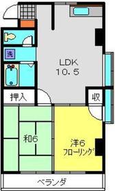 新羽駅 徒歩15分2階Fの間取り画像