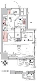 VERXEED横濱WEST1階Fの間取り画像