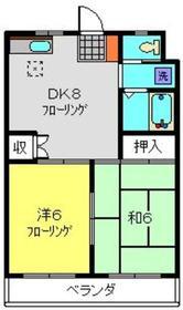 ヴィラコートF・K1階Fの間取り画像