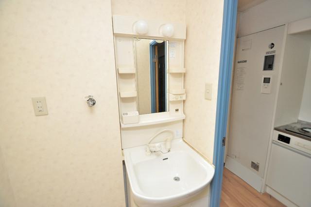 スパジオビィータ 人気の独立洗面所にはうれしいシャンプードレッサー完備です。