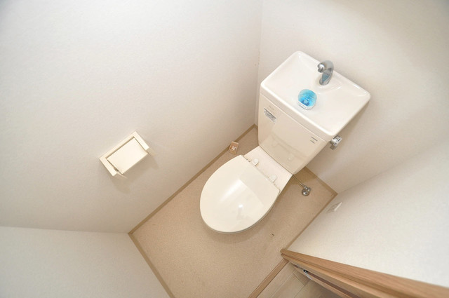 Social Village(ソシアル ビレッジ) 清潔感のある爽やかなトイレ。誰もがリラックスできる空間です。