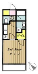 マーヴェラスI2階Fの間取り画像