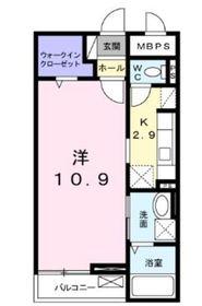 ラシュレ2階Fの間取り画像