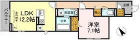 コンフォート新治町1階Fの間取り画像