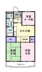 二俣川駅 徒歩12分3階Fの間取り画像