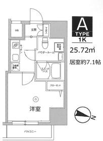 スカイコート板橋本町II7階Fの間取り画像
