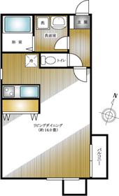 モンテピーノデュオ3階Fの間取り画像