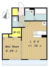 D-room堀之内2階Fの間取り画像