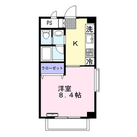 メルベーユふじみ野4階Fの間取り画像