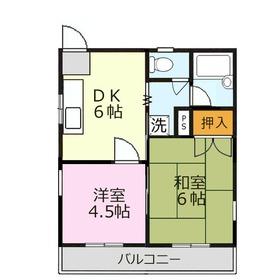 カーサフローラ3階Fの間取り画像
